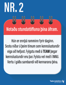 Námstækni - heilræði nr.2.